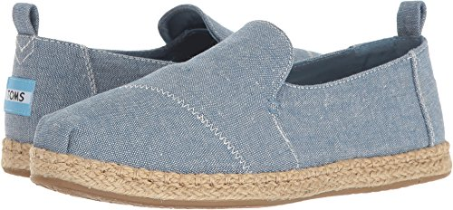 Toms Denim - TOMS Women's Deconstructed Alpargata Blue Slub Chambray 5.5 B US