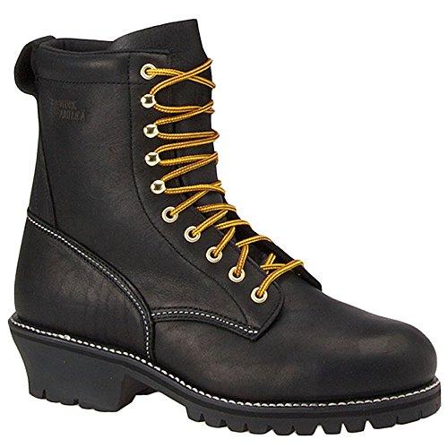 Work America Hombres 8 Waterproof Steel-toe Logger Black