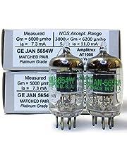 Riverstone Audio - Tested/Matched Pair (2 Tubes) 7-Pin GE JAN 5654W Fully-Tested Vacuum Tubes - Upgrade for 6AK5 / 6J1 / 6J1P / EF95 - GE 5654W Platinum Grade Pair