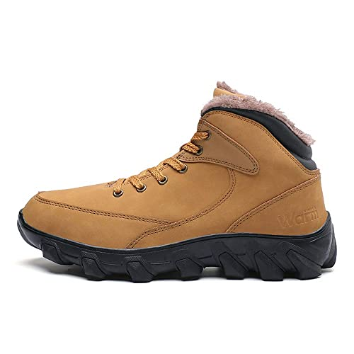 online retailer exquisite design best sale Ahico Mens Winter Boots for Men Snow Boot Hiking Fur Lined Ankle Booties  Non-Slip Waterproof Shoes