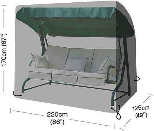 Cubierta de columpio de jardín negra, cubierta de asiento de columpio Funda de silla de columpio