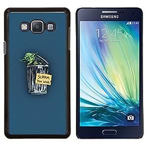 KLONGSHOP // Cubierta de piel con cierre a presión Shell trasero duro de goma Protección Caso - Yoda Scram - Samsung Galaxy A7 A7000 //