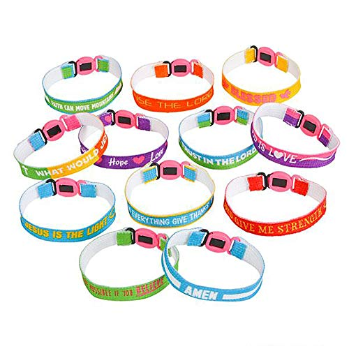 Assorted Religious Friendship Bracelet - 150 Pieces, Church Events, Gift Ideas, Youth Groups Souvenirs, Fundraising Campaign, Inspirational Messages, Best Friends Forever, Worship Concert]()