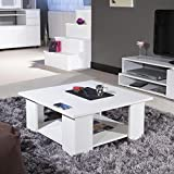 LIME Table basse carrée blanc