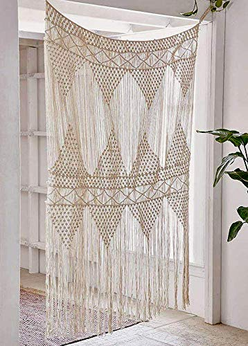 Flber Macrame Curtain Large Wall Hanging Bohemian Wedding Decor, 50' w x 75' h