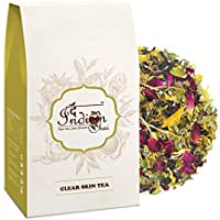 The Indian Chai - Clear Skin Tea 50g with Rose, Chamomile, Lavender Sage for Skin Glow, Natural Beauty Enhancer Tea