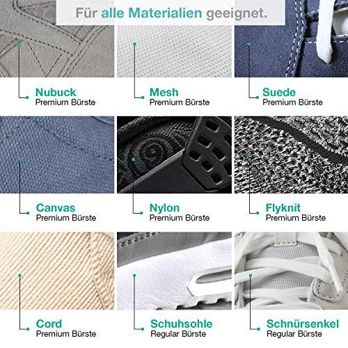 Sneaker Cleaner - kit de nettoyage pour chaussures, 250ml d'agent nettoyant avec 2 brosses pour matériaux sensibles et… 5