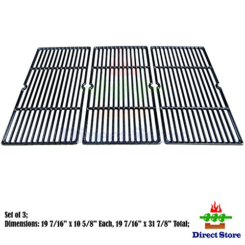 Direct store Parts DC117 Polished Porcelain Coated Cast Iron Cooking grid Replacement Charbroil 463268207, 463268806 Gas (Porcelain Coated Grid)