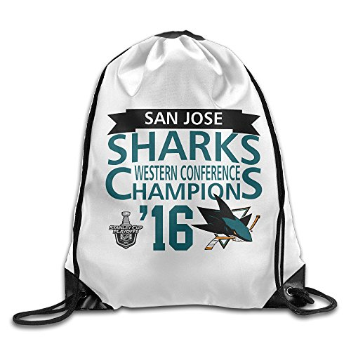 BACADI San Jose Sharks Western Conference Champions Drawstring Backpacks/Bags.