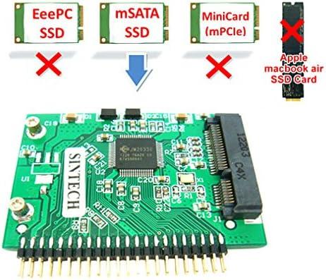 Mini SATA mSATA SSD to 44Pin IDE Adapter For 1.8-Inch IDE HDD