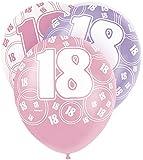 6 Ballons anniversaire 18 ans