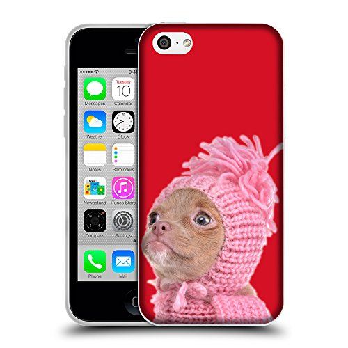 GoGoMobile Coque de Protection TPU Silicone Case pour // Q05690624 Chihuahua chapeau Cadmio Red // Apple iPhone 5C