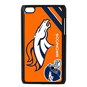 NFL Denver Broncos iPod Touch 4 Hard Case Cover Special Custom Personalized Logo Orange Cover at Big-dream