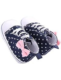 Infant Canvas Soft Sole Anti-Slip Prewalker Toddler Crib Shoes Love Print Sneaker (White Size 2)