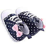 WAYLONGPLUS Infant Canvas Soft Sole Anti-Slip Prewalker Toddler Crib Shoes Love Print Sneaker (White Size 13)