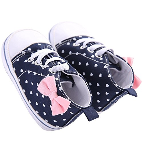 WAYLONGPLUS Infant Canvas Soft Sole Anti-Slip Prewalker Toddler Crib Shoes Love Print Sneaker (White Size (Love White Soft Sole Shoes)