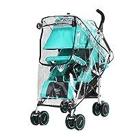 Obecome Cubierta de lluvia para cochecito de bebé universal Cubierta de protección contra el polvo contra el viento paraguas para el viento Cubierta para cochecitos