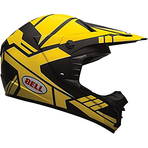Bell Stack Mens SX-1 MX Motorcycle Helmet - Charcoal/Yellow / X-Large