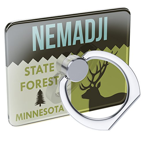 Cell Phone Ring Holder National US Forest Nemadji State Forest Collapsible Grip & Stand Neonblond