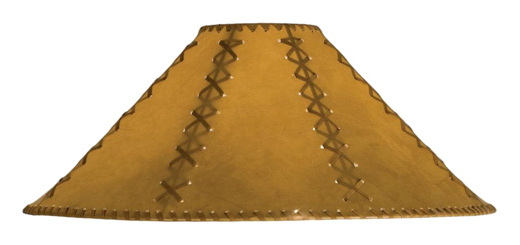 Meyda Tiffany 26357 Faux Leather Tan Hexagon Lamp Shade, 22'' Width x 12'' Height by Meyda Tiffany (Image #1)