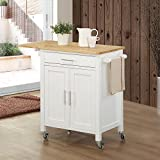 Vermont Kitchen Cart Base Finish: White