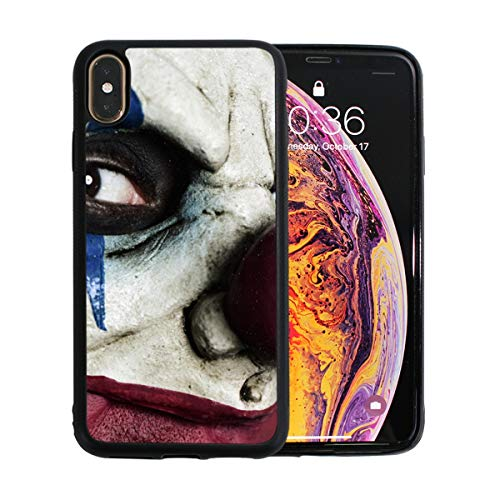 Evil Scary Clown Monster iPhone Xs Max Case Screen Protector TPU Hard Cover with Thin Shockproof Bumper Protective Case for iPhone Xs Max 6.5 -