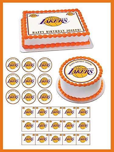 Los Angeles (LA) Lakers - Edible Cupcake Toppers - 1.8