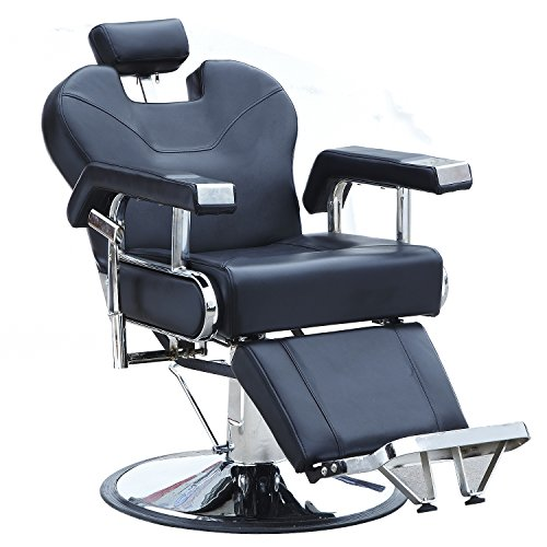 Sliverylake Reclining Hydraulic Barber Chair Salon Beauty Equipment Hair Styling Shampoo (Black) by Sliverylake