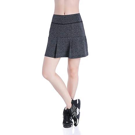DAHDXD Faldas Cortas de Tenis de bádminton para Mujer Faldas ...