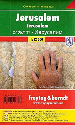 Jerusalem FB City Pocket Map 1:12.5K (English, Spanish, French, Italian and German Edition) (Jerusalem Old City Map)
