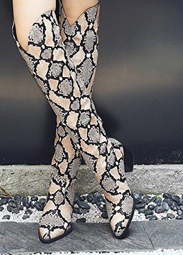 Femme Haute Genou Aisun Tige Sexy OxqpwwF0
