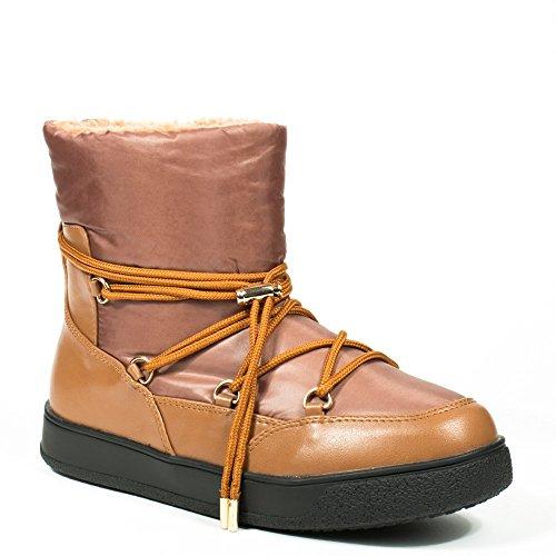 Ideal Shoes, Mädchen Stiefel & Stiefeletten , beige - camel - Größe: 39