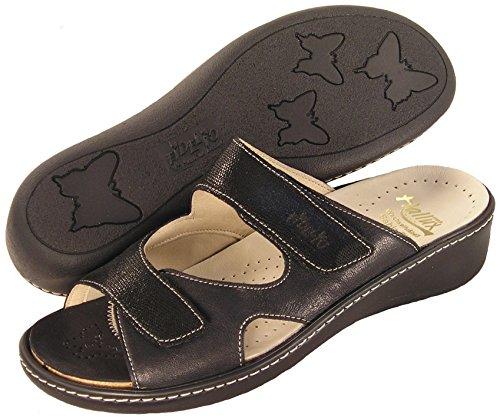 Fidelio Kvinners Hallux Fabia Ilke Lindring Glide Sandal 434013 (svart)