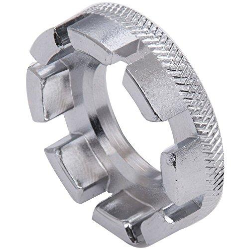 DierCosy Silver Bicycle Spoke Wrench Round Wheel Spoke Spanner Adjuster Repair Tool ()
