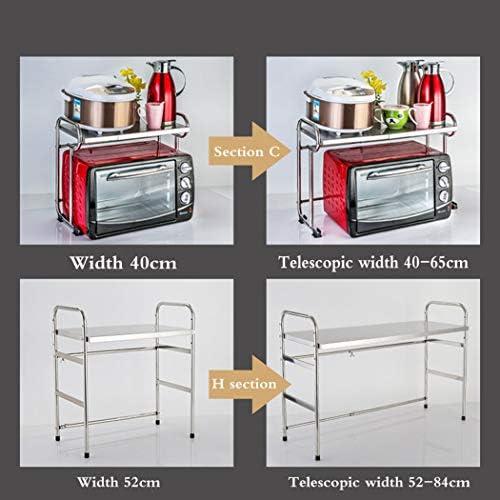 HHRONGJKDMM - Estantes de Cocina y estantes, Acero Inoxidable 304 ...