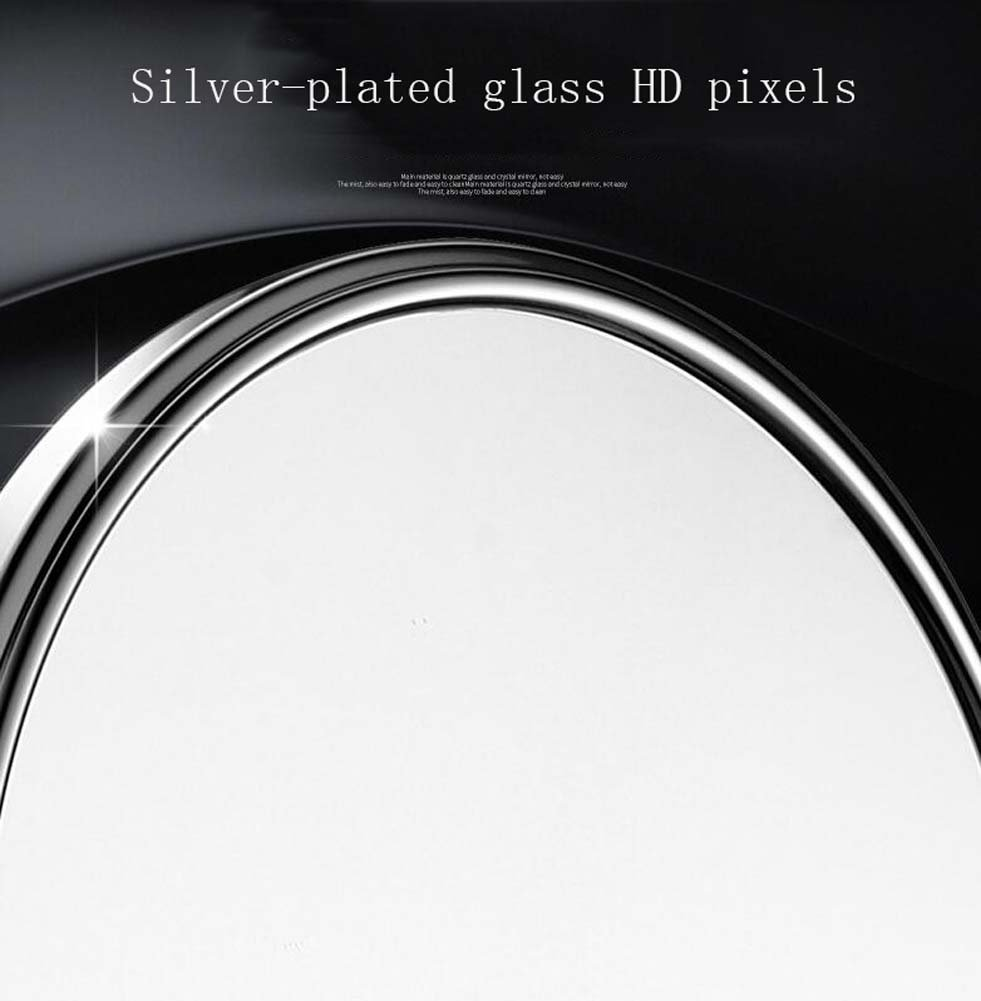 6/8-inch Bathroom Mirror Double Sided Makeup Mirror 3X, 5X,7X,10X/1X Magnification Wall Mounted Vanity Magnifying Mirror Swivel, Extendable For Bath, Spa And Hotel ( Design : 5x , Size : 6-inch ) by GAOLIQIN (Image #7)