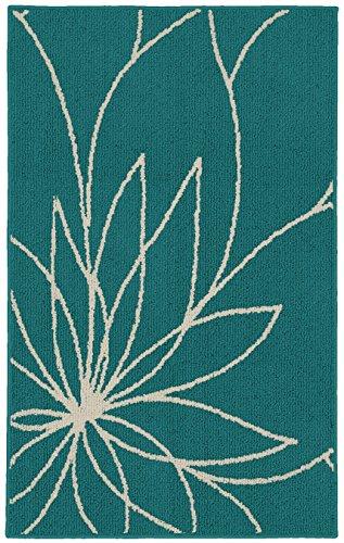 Teal Area Rug (Garland Rug Grand Floral Area Rug, 30 x 46