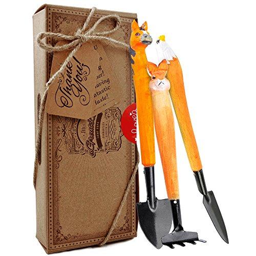 aGreatLife® Kit de Jardinería para Niños: Herramientas de Madera Hechas a Mano para Jardineros de Todas las Edades –...