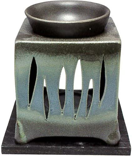 常滑焼・山房窯 カ40-09 茶香炉 杉板付 約10×10×12cm