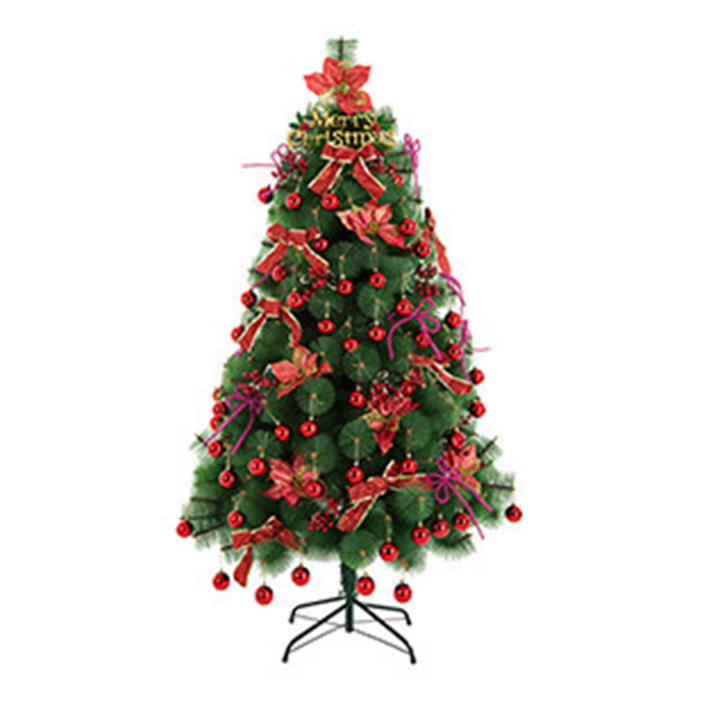 XF Christmas tree-240cm Artificial Christmas Tree All Occasions Green Color Pine Needle Tree with Metal Bracket 7.87ft // (Color : Red)
