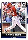 2016 Donruss #129 Adrian Beltre Texas Rangers Baseball Card in Protective Screwdown Display Case