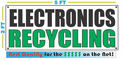 ELECTRONICS RECYCLING All Weather Full Color Banner Sign
