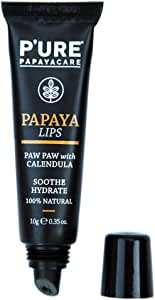Pure Papaya for Lips 10g 100% Vegan, 100% Natural, Nature Certified With Zero Petroleum made with Australian Organic Papaya to Nourish Dry And Chapped Lips