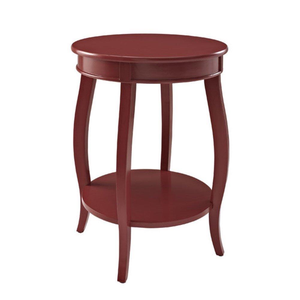 amazoncom charlton home axtell end table american style red  - amazoncom charlton home axtell end table american style red kitchen dining
