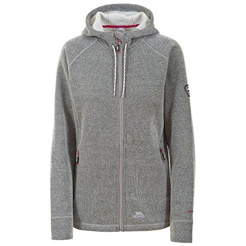 Trespass Womens/Ladies Whirlwind Full Zip Hooded Fleece Jacket (XXS) (Grey Marl) (Best Corporate Responsibility Programs)