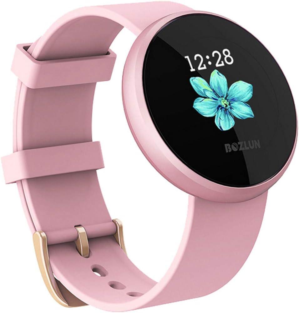 Liqiqi B36 Pulsera Inteligente Ritmo cardíaco esfigmomanómetro, Pantalla a Color Pulsera Inteligente con Seguimiento de sueño Contador de calorías, Reloj podómetro para niños y Hombres (Rosado)