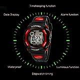 Sports Watch,Hot Sale! Waterproof Hot Cool Boys LED Quartz Alarm Date Sports Wrist Watch