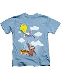 Curious George Flight Little Boys' Carolina Blue T-Shirt