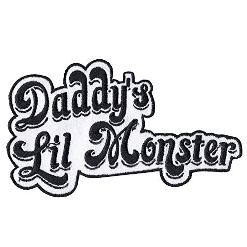 Daddy's Lil Monster Motif Iron On Embroidered Applique Patch (Monster High Iron On)