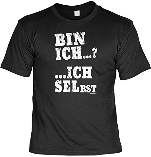Herren - Oberteil Fun-T-shirt als tolles Geschenk zum Geburtstag Vatertag Bin Gr: 4XL Farbe: schwarz